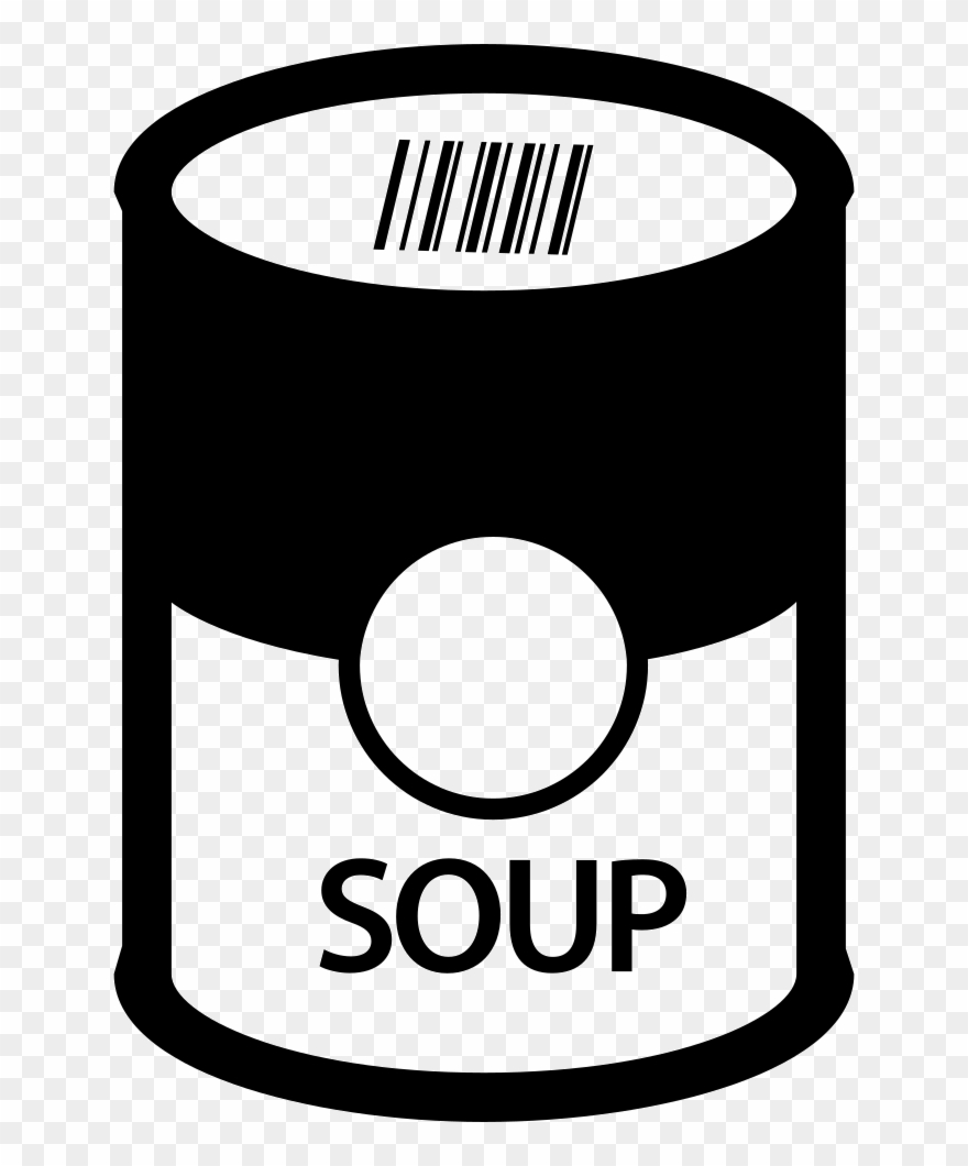 Soup can clipart svg black and white library Soup In Can Comments - Soup Cans Clipart Png Transparent Png ... svg black and white library