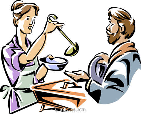 Soup kitchen clipart free png library woman working in a soup kitchen Royalty Free Vector Clip Art ... png library