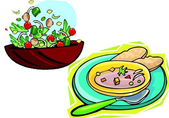 Soup & salad clipart clip art royalty free Soup and salad clipart 2 » Clipart Station clip art royalty free