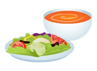 Soup & salad clipart vector library download Soup and salad clipart 1 » Clipart Station vector library download