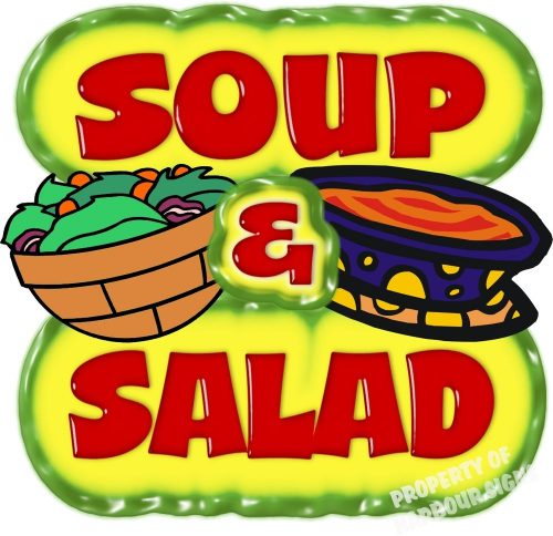 Soup & salad clipart banner black and white stock Marina United Methodist Church Annual Soup and Salad banner black and white stock