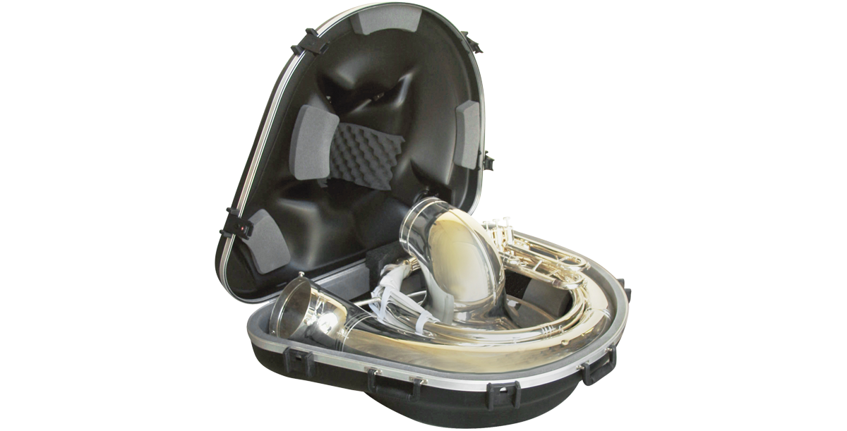 Sousaphone case vector freeuse Sousaphone Case with Wheels | SKB Music / ProAV vector freeuse