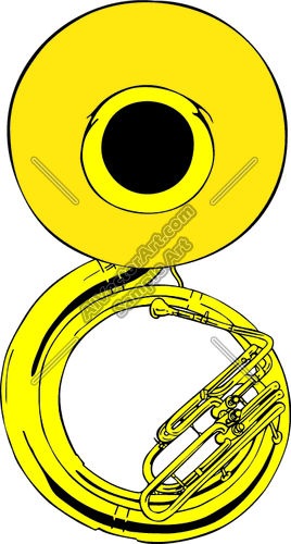 Sousaphone clipart image freeuse Sousaphone Clipart and Vectorart: Misc Graphics - Music ... image freeuse