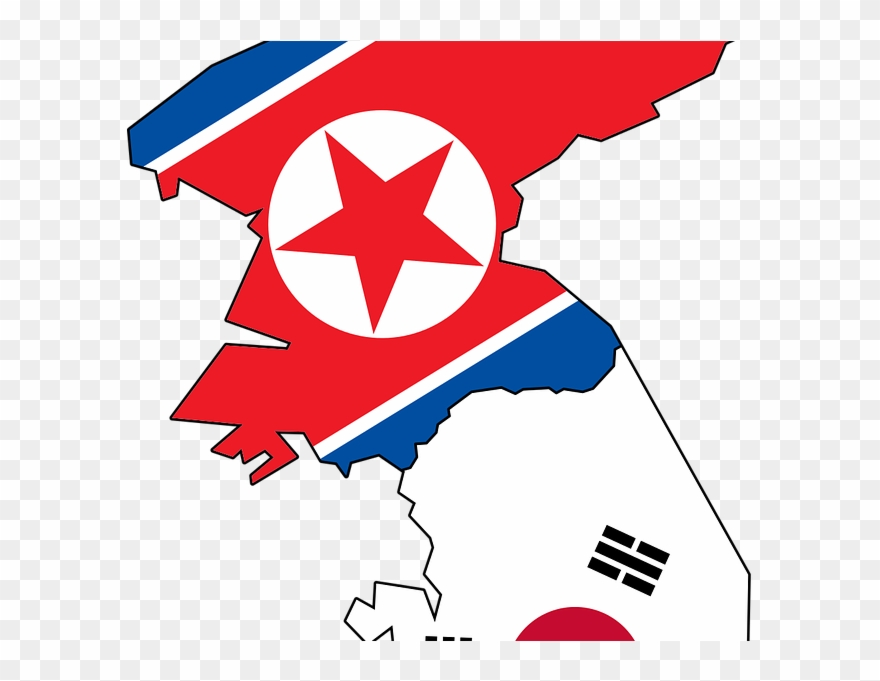 South korea clipart graphic free download Korean Clipart Korean Peninsula - North And South Korea Flag ... graphic free download