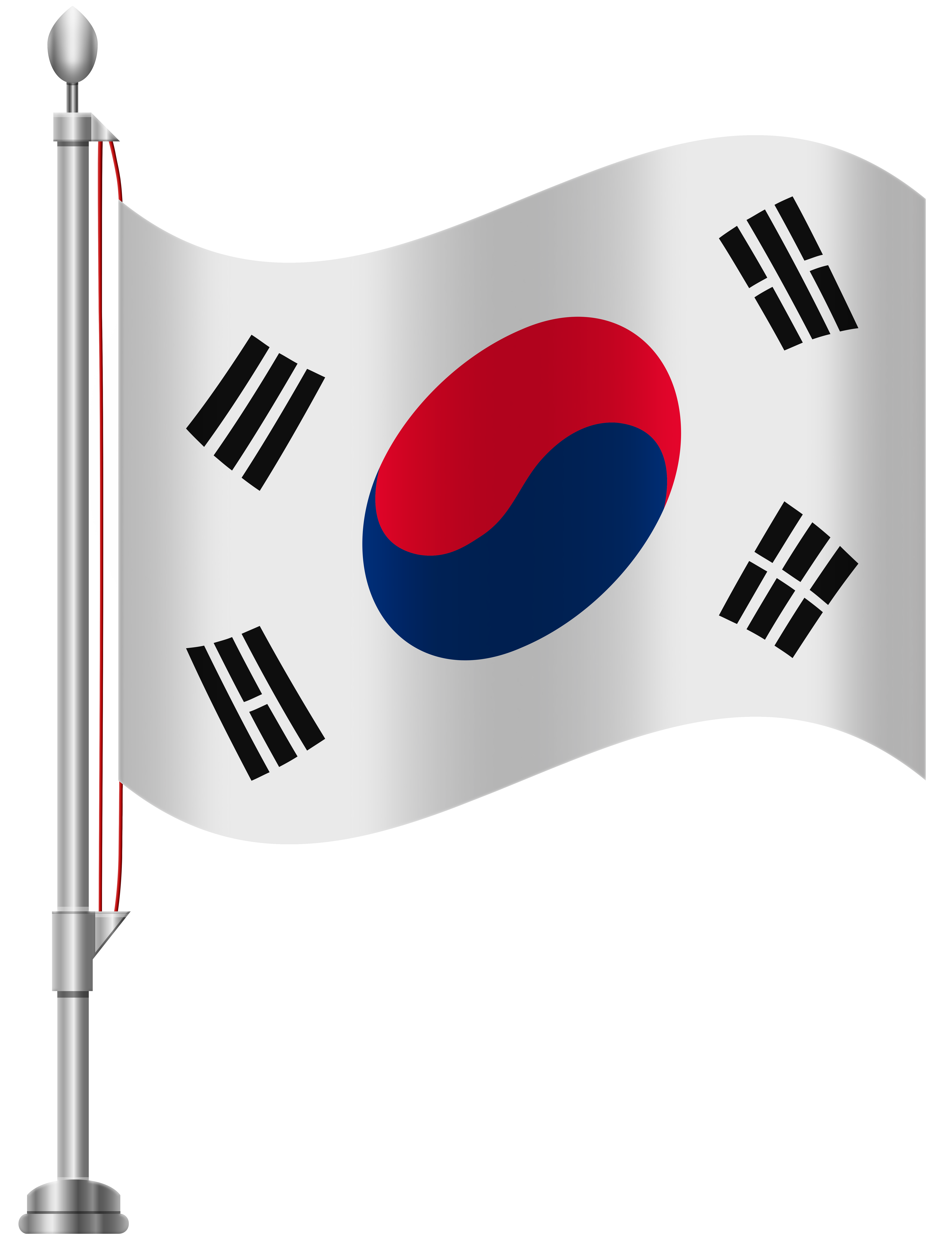 South korea clipart royalty free stock South Korea Flag PNG Clip Art - Best WEB Clipart royalty free stock