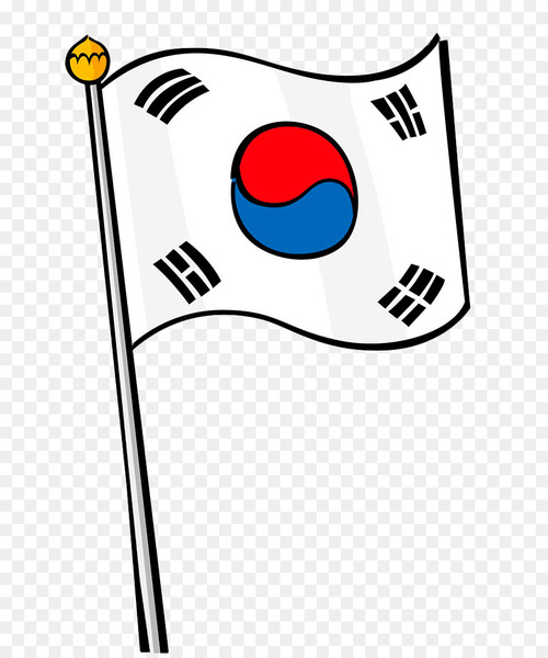 South korea flag clipart banner library stock Flag of South Korea Stock photography - Hand painted Korean ... banner library stock