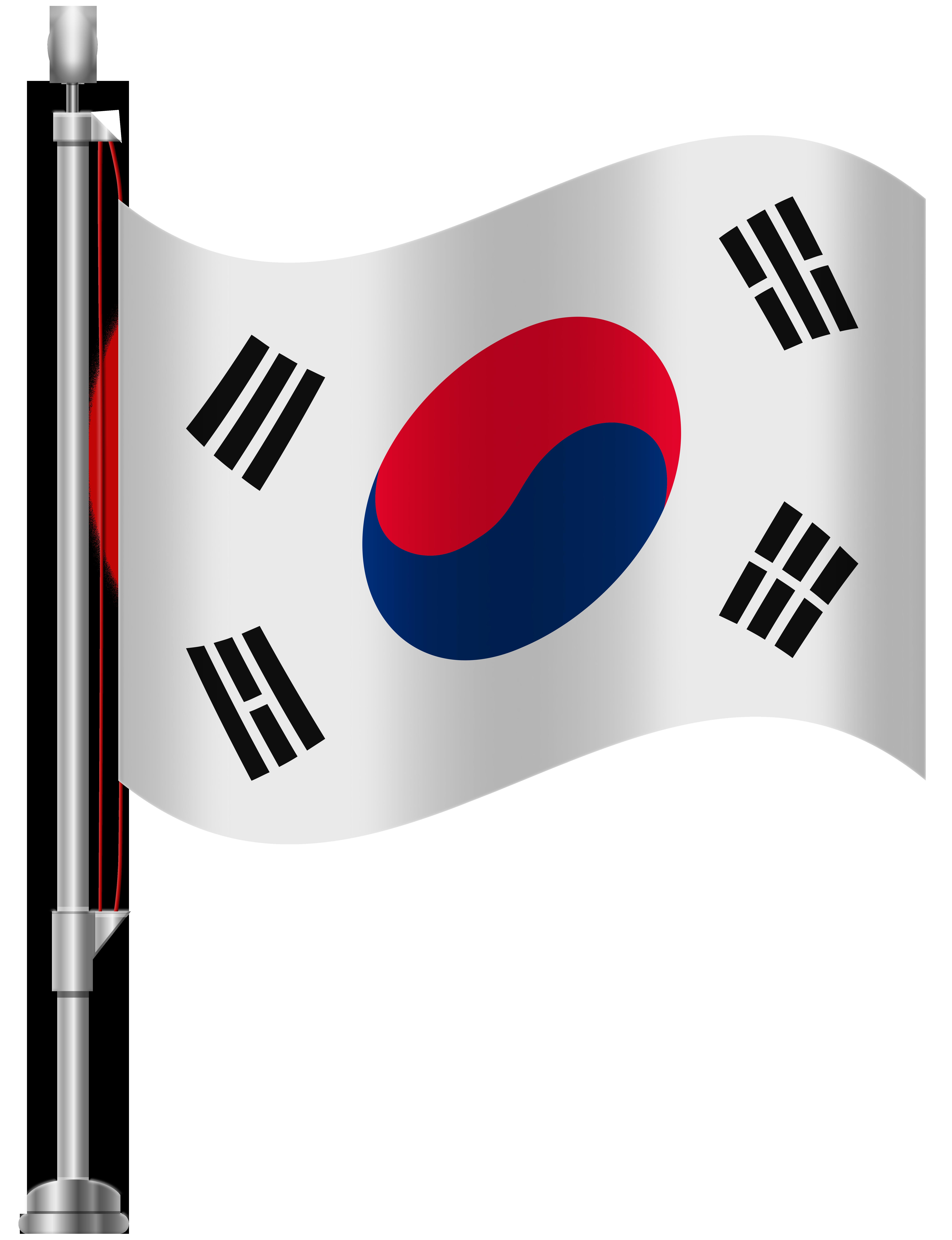 South korea flag clipart clip black and white South Korea Flag PNG Clip Art - Best WEB Clipart clip black and white
