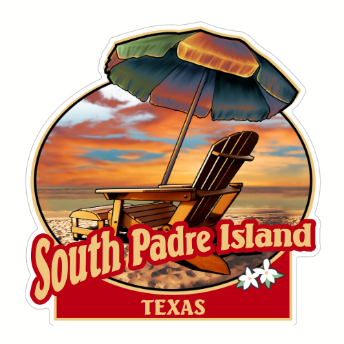 South padre clipart svg freeuse library South Padre Island Texas Beach Sticker svg freeuse library
