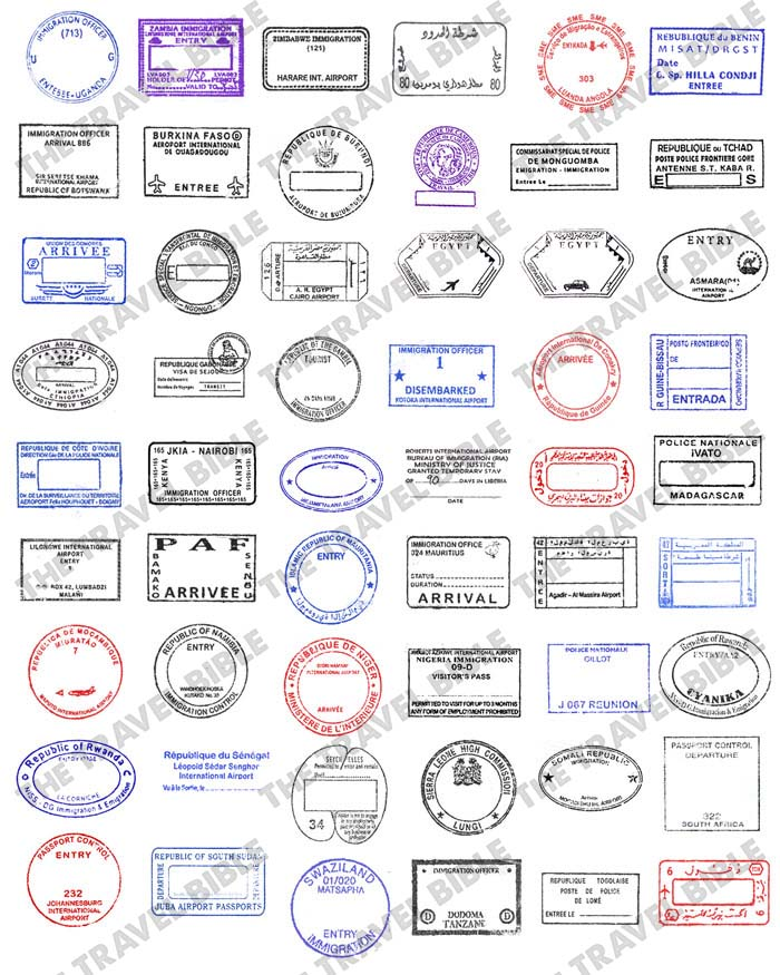 Southern asia passport stamps clipart free download World Passport Stamps Clipart PNG Digital Download free download
