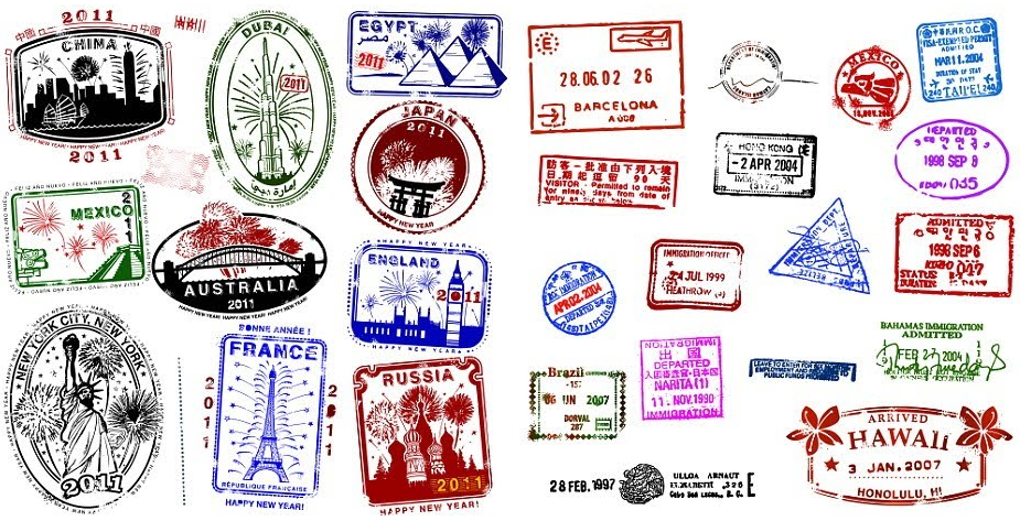 Southern asia passport stamps clipart clip black and white download Top Tens: Prettiest Passport Stamps in the World - GoBeyond.SG clip black and white download