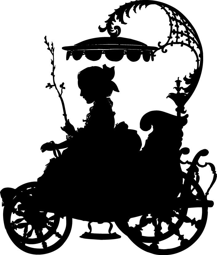 Southern belle hat silhouette clipart svg stock 17 Best images about Victorian Silhouettes on Pinterest ... svg stock
