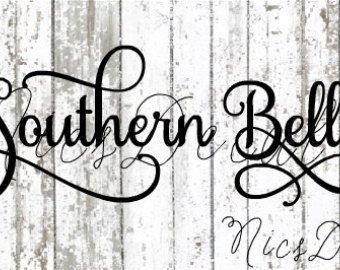 Southern belle hat silhouette clipart graphic library Southern belle | Etsy graphic library