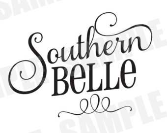 Southern belle hat silhouette clipart svg free library Belle silhouette | Etsy svg free library