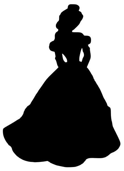 Southern belle hat silhouette clipart vector library 17 Best images about Siluete on Pinterest | Cinderella silhouette ... vector library