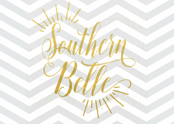 Southern belle silhouette clipart graphic library download Southern Belle SVG File Cut File Cricut explore Quote graphic library download