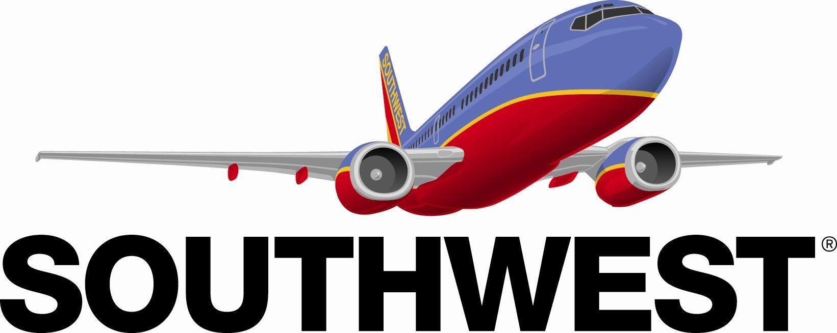 Southwest plane clipart transparent vector transparent Southwest airlines clipart - ClipartFest vector transparent