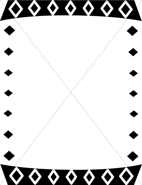 Southwestern borders and frames clipart black and white clip art royalty free library Black and White Diamonds Border | Religious Borders clip art royalty free library