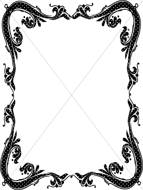 Southwestern borders and frames clipart black and white free download Religious Borders, Religious Border Clipart, Christian ... free download