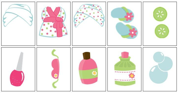 Spa clipart photo props jpg library Spa party photo booth printables INSTANT por ... jpg library