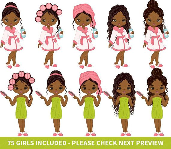 Spa clipart vector image free library 75 Spa Girls Clipart - Vector Spa Girl, Spa Party Clipart ... image free library