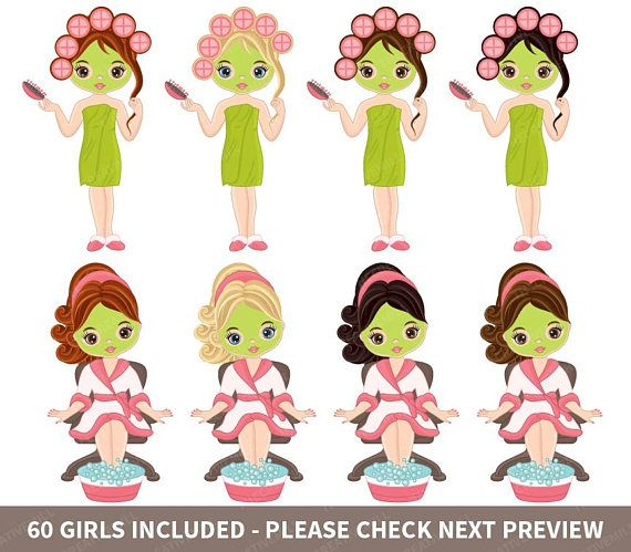 Spa clipart vector clip art free download 60 Spa Girls Clipart Vector Spa Girl Spa Party Clipart Spa ... clip art free download