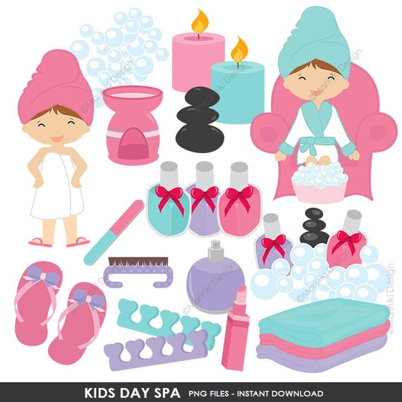 Spa images clipart png free download Kids Spa Clipart, Girls Day Spa Clip Art, Slumber Party ... png free download