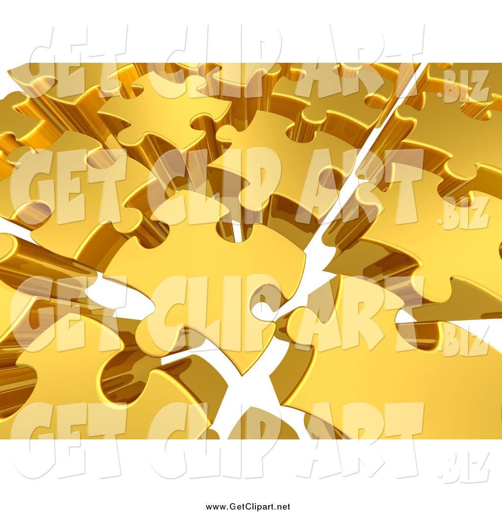 Space between clipart clip art transparent download Clip Art of a Background of 3d Gold Puzzle Pieces with Space ... clip art transparent download