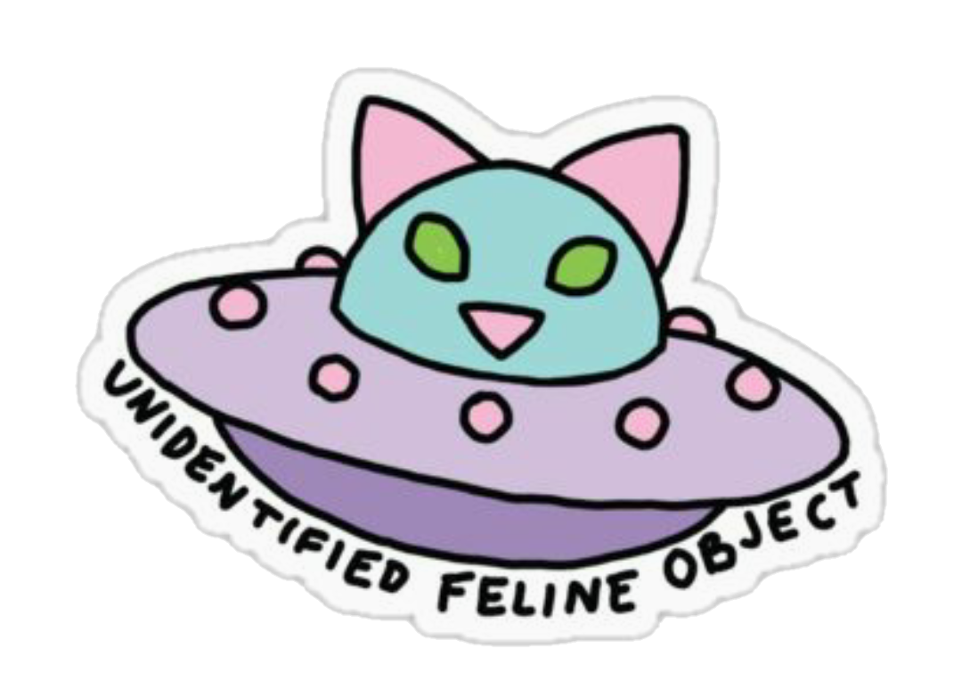 Space cat clipart transparent space kitty cat ufo - Sticker by Jessica Knable transparent