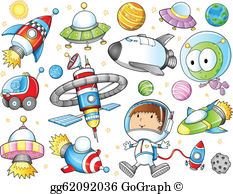 Space clipart free clip black and white stock Outer Space Clip Art - Royalty Free - GoGraph clip black and white stock