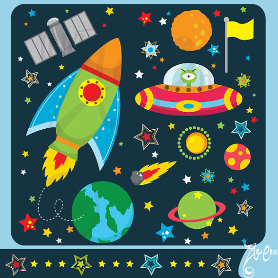 Space design clipart clip art library Outer space clipart:\