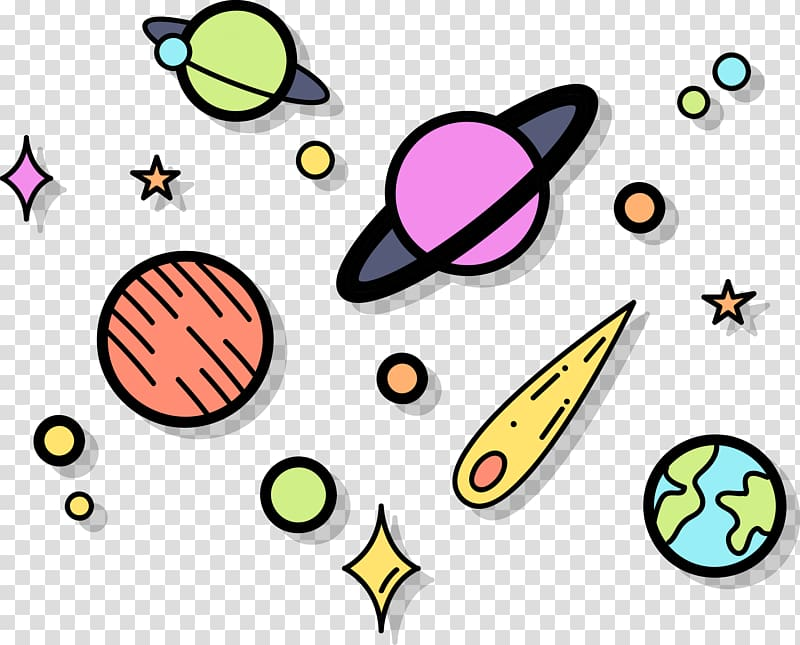 Space design clipart banner freeuse Planets and star illustration, Euclidean Outer space , Space ... banner freeuse