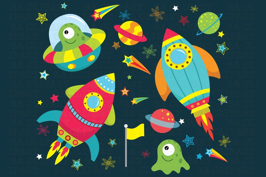 Outerspace clipart banner black and white download Outer space clipart banner black and white download