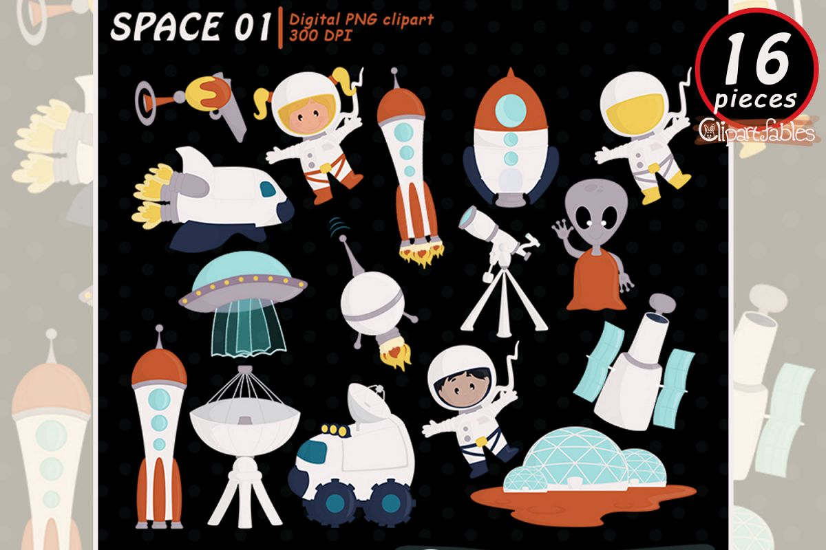 Space design clipart banner library Solar system clipart, Planet clip art, Cute Space design banner library
