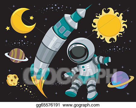 Space design clipart clipart black and white download EPS Illustration - Outer space design elements . Vector ... clipart black and white download