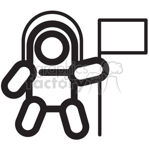 Space icon clipart graphic library stock astronaut space walker vector icon . Royalty-free icon # 398469 graphic library stock