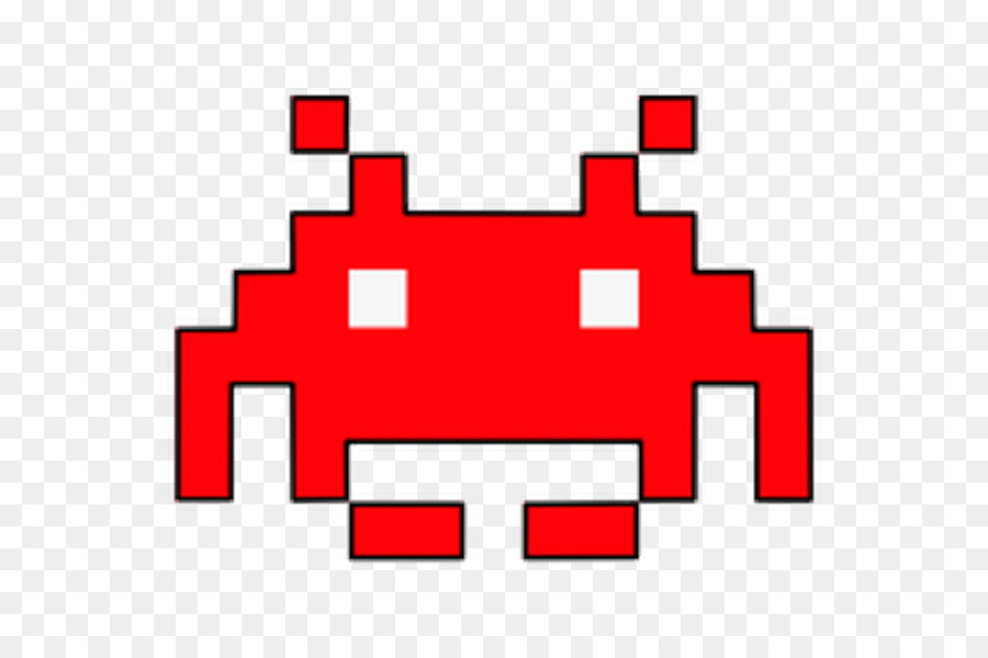 Space invader clipart transparent stock Space Invaders Red png download - 600*600 - Free Transparent ... transparent stock
