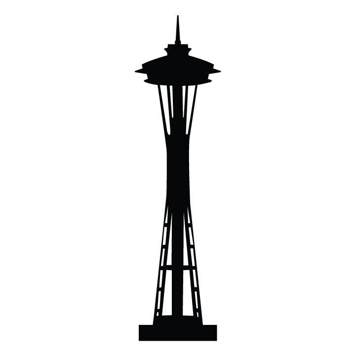 Space needle clipart free vector freeuse download Seattle Space Needle Silhouette | ARt docent | Seattle ... vector freeuse download