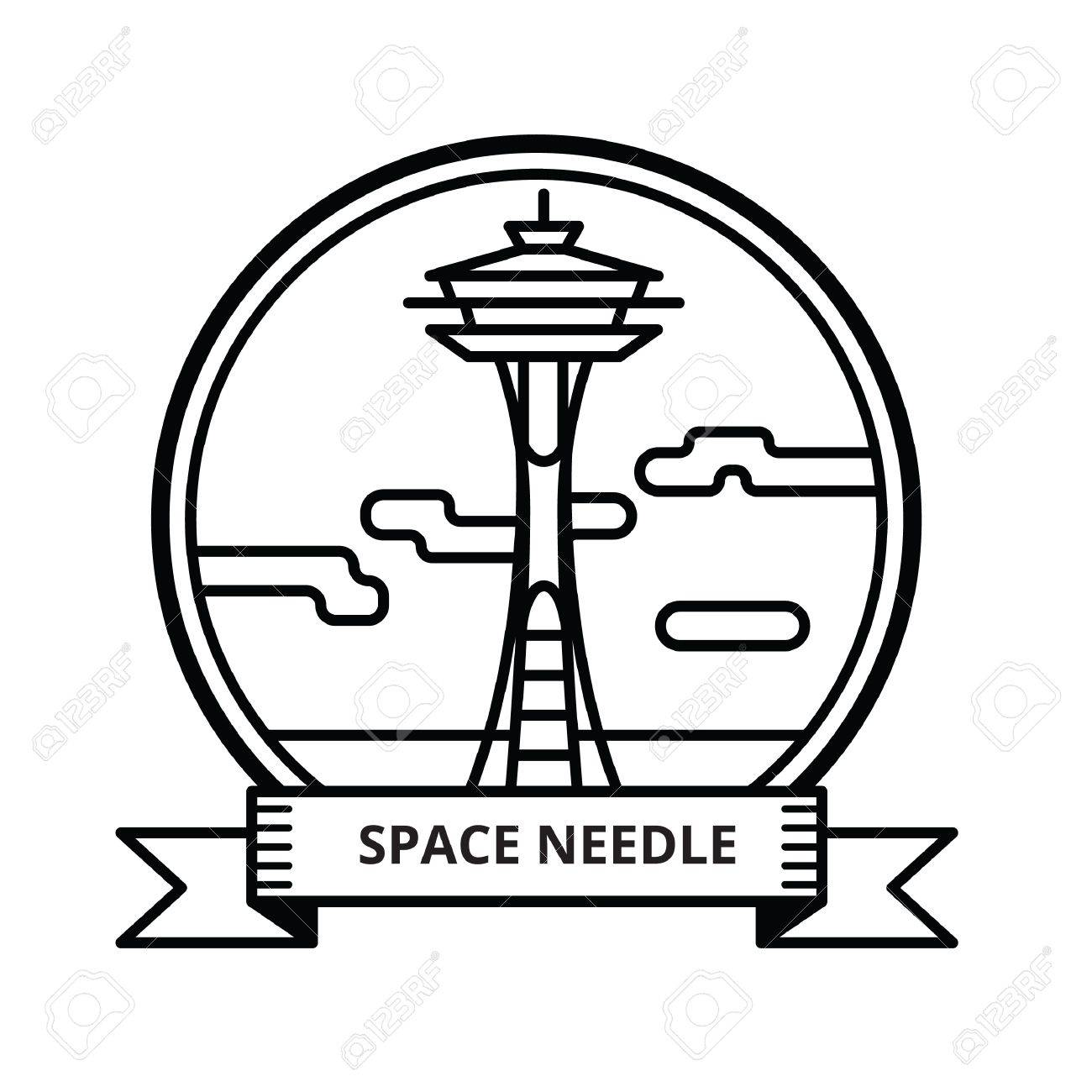 Space needle clipart free vector black and white library Space Needle Clipart | Free download best Space Needle ... vector black and white library