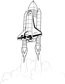 Space shuttle launch clipart banner library stock Shuttle Takeoff Clip Art at Clker.com - vector clip art ... banner library stock