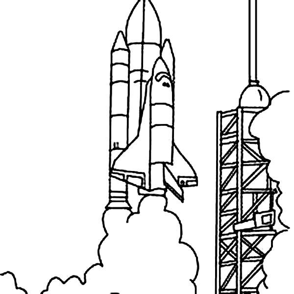 Space shuttle launch clipart svg transparent library Space Shuttle Launched From | Clipart Panda - Free Clipart ... svg transparent library