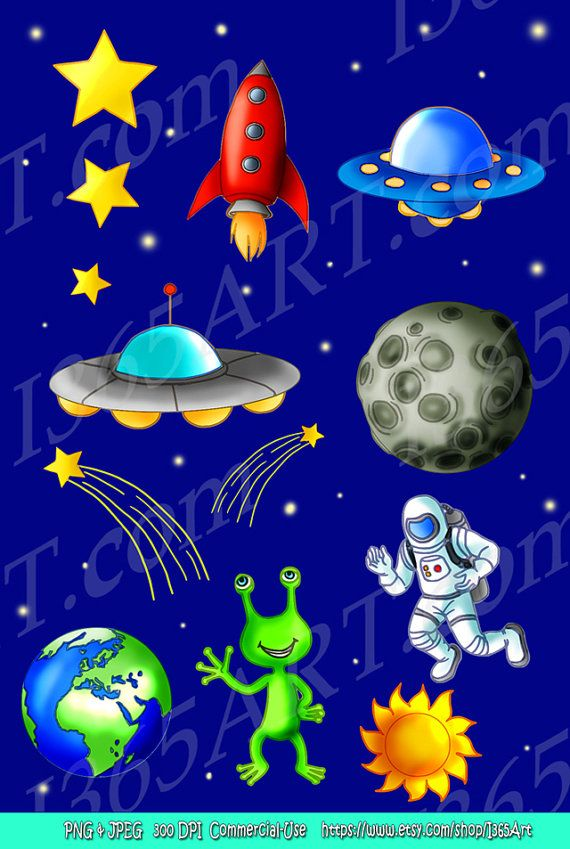 Space things clipart picture freeuse download Outer Space Clipart, Science art, Scrapbooking, Astronaut ... picture freeuse download