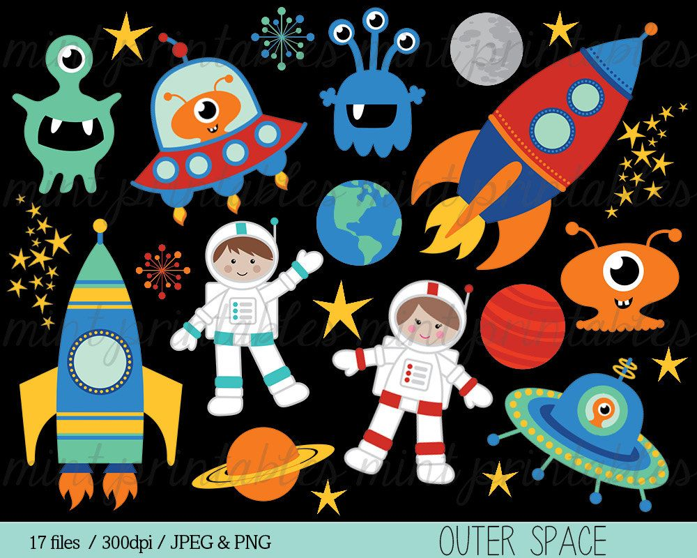Space things clipart jpg free stock Space Clipart Rocket Clipart Spaceship Rocketship Astronaut ... jpg free stock