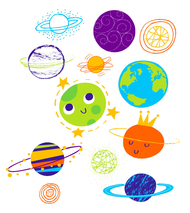 Space things clipart clip art black and white stock Planets Clipart space thing 13 - 617 X 691 Free Clip Art ... clip art black and white stock