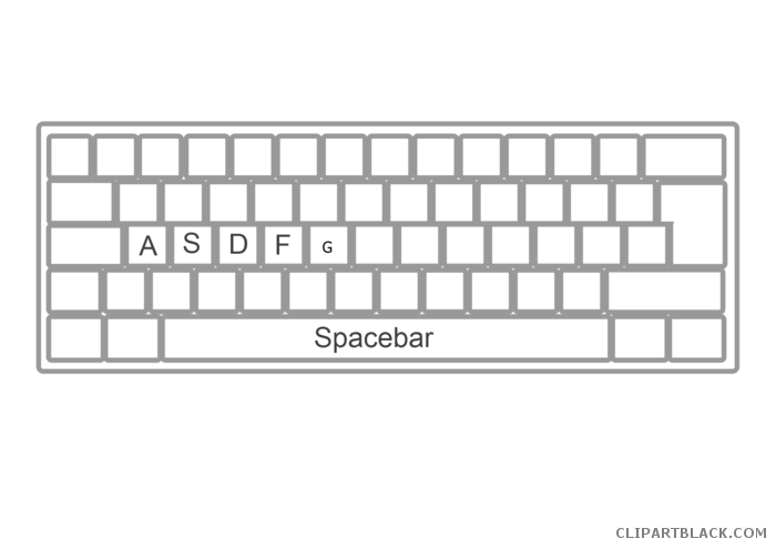 Spacebar clipart image black and white download Keyboard clipart spacebar, Keyboard spacebar Transparent ... image black and white download