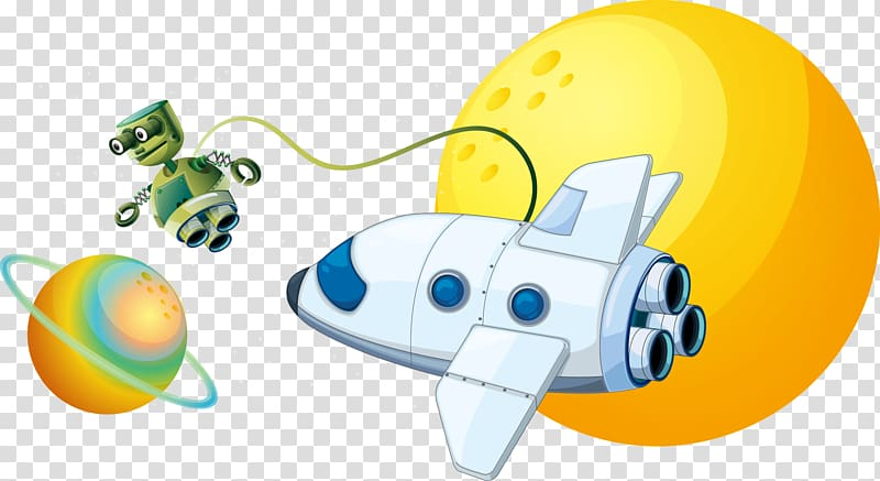 Spaceman shuttle clipart graphic free library White plane and green robot illustration, Outer space ... graphic free library