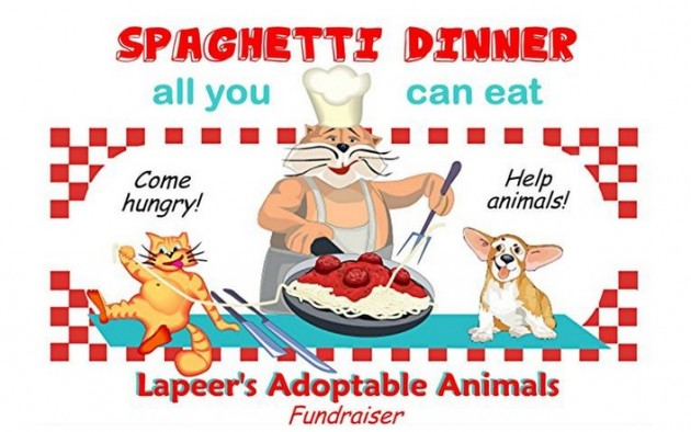 Spaghetti dinner fundraiser clipart for facebook black and white library Lapeer's Adoptable Animals Spaghetti Dinner Fundraiser black and white library