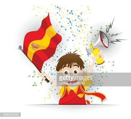 Spain soccer clipart picture freeuse stock Spain Soccer Fan Flag Cartoon premium clipart - ClipartLogo.com picture freeuse stock