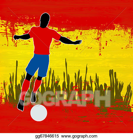 Spain soccer clipart png free stock Vector Clipart - Football spain. Vector Illustration ... png free stock