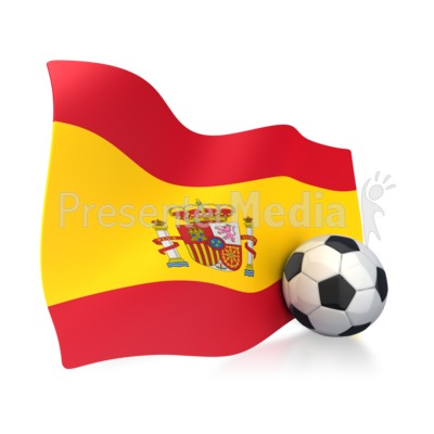 Spain soccer clipart vector freeuse stock Spain Flag With Soccer Ball - Sports and Recreation - Great ... vector freeuse stock