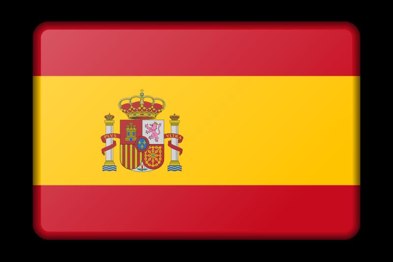 Spanish book clipart clip art Clipart - Spain flag (bevelled) clip art
